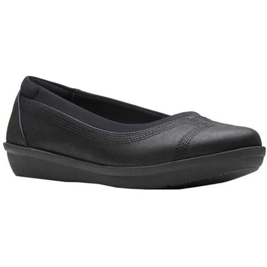 Women's Clarks Ayla Low in Bk Syn/ Nu