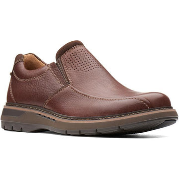 Clarks Un Ramble Step Mahogany Leather