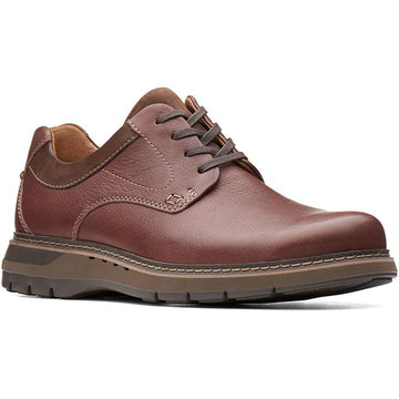 Clarks Un Ramble Lo Mahogany Leather