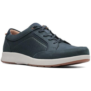 Men's Clarks Un Trail Form in Navy Nubuck sku: 26140976