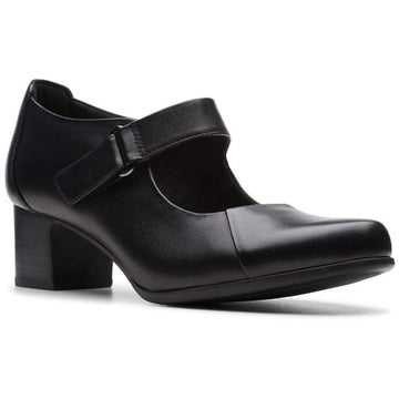Women's Clarks Un Damson Vibe in Black Leather sku: 26144342