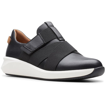 Women's Clarks Un Rio Strap in Black Leather sku: 26145614