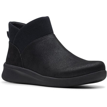 Women's Clarks Sillian 2.0 Dusk in Black Synthetic (Black Outsole) sku: 26146188