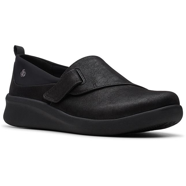 Women's Clarks Sillian 2.0 Ease in Black Synthetic (Black Outsole) sku: 26146969