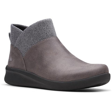 Women's Clarks Sillian 2.0 Dusk in Grey Synthetic Nubuck (Black Outsole) sku: 26146973