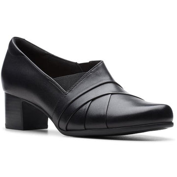 Women's Clarks Un Damson Adele in Black Leather sku: 26146981