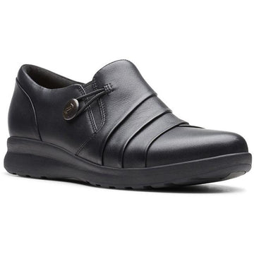 Women's Clarks Un Adorn Loop in Black Leather sku: 26147430