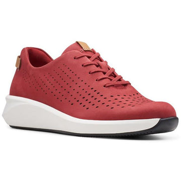 Women's Clarks Un Rio Tie in Red Nubuck sku: 26148718