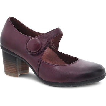 Women's Dansko Page in Wine Waterproof Burnished sku: 3330-880200