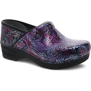 Quarter view Women's Dansko Footwear style name Xp 2.0 in color Engraved Floral Patent. Sku: 3950-960202