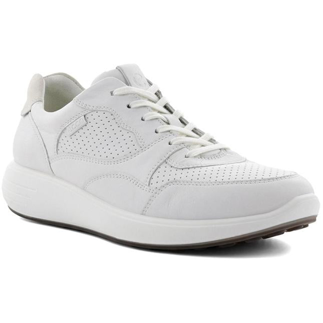 Women's ECCO Soft 7 Runner Sneaker in White/ Shadow White sku: 460613-52292