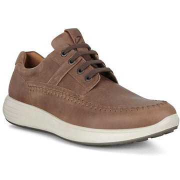Quarter view Men's ECCO Footwear style name Soft 7 Runner Seawalker in color Cocoa Brown. Sku: 460714-02482