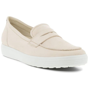 Quarter view Women's ECCO Footwear style name Soft 7 Loafer in color Limestone. Sku: 470223-02378