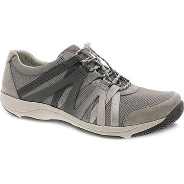 Quarter view Women's Dansko Footwear style name Henriette in color Grey Suede. Sku: 4852-941094