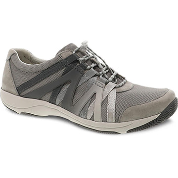 Quarter view Women's Dansko Footwear style name Henriette Wide in color Gray Suede. Sku: 4862-941094