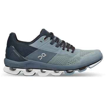 Quarter view Women's On Running Footwear style name Cloud Ace in color Wash/ Navy. Sku: 50-99556