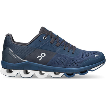 Quarter view Men's On Running Footwear style name Cloud Ace  in color Midnight/ Navy. Sku: 50-99559