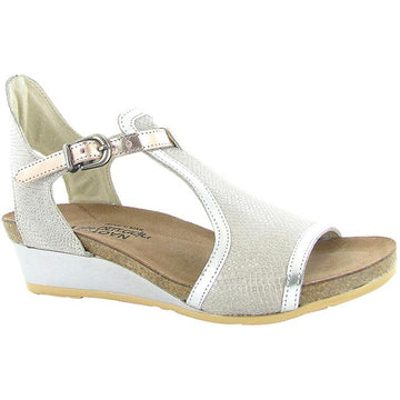 Women's Noat Fiona in Beige Lizard Leather/ Silver Luster Leather/ Rose Gold Leather sku: 5042-WBQ