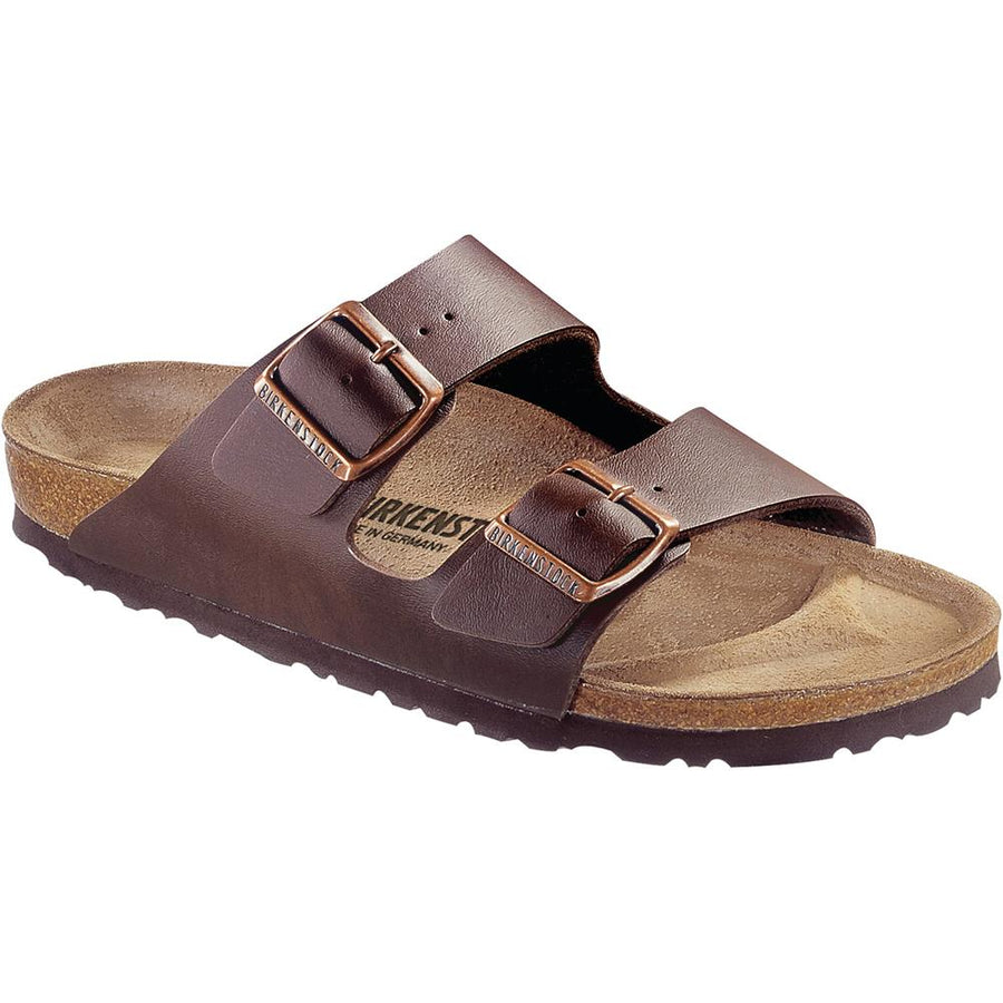 Women's Birkenstock Arizona Birko Flor Regular in Dark Brown