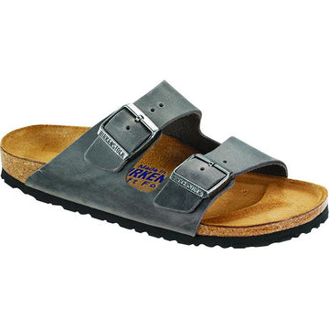 Men's Birkenstock Arizona Soft Footbed Regular in Iron Oiled