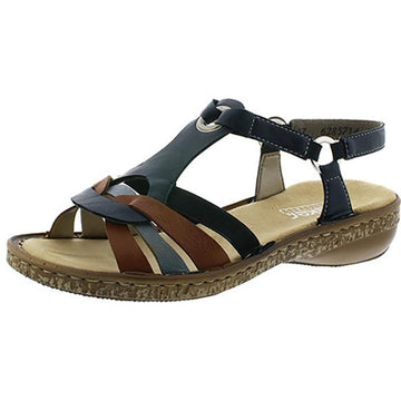 Women's Rieker Regina 57 in Pazifik/ Cayenne/ Adria Gurgaon/ Eagle/ Preston sku: 62857-14