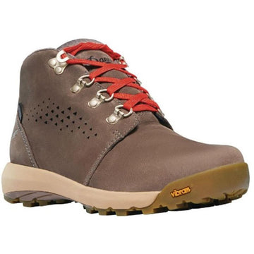 Quarter view Women's Danner Footwear style name Inquire Chukka Waterproof in color Iron/ Picante. Sku: 64505