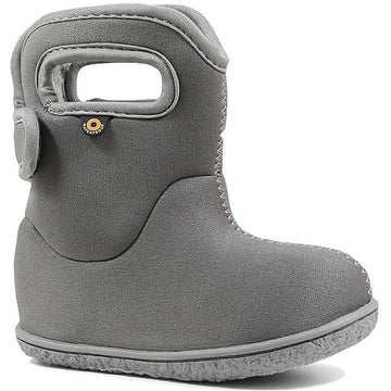 Kids Bogs Baby Bog Solid in Light Grey sku: 72461I-050