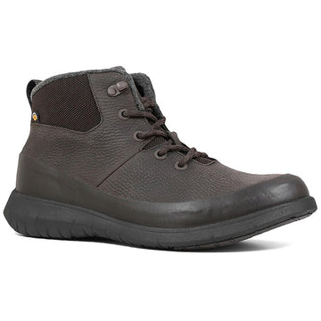 Men's Bogs Freedom Mid Lace in Dark Brown