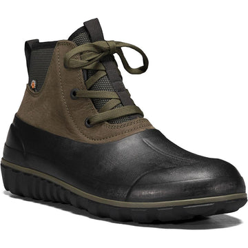 Men's Bogs Classic Casual Lace Leather in Dark Green sku: 72620-301