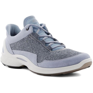 Women's ECCO Biom Fjuel Mesh Lace in Dusty Blue