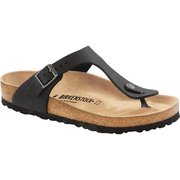 Women's Birkenstock Gizeh Regular in Black Oil