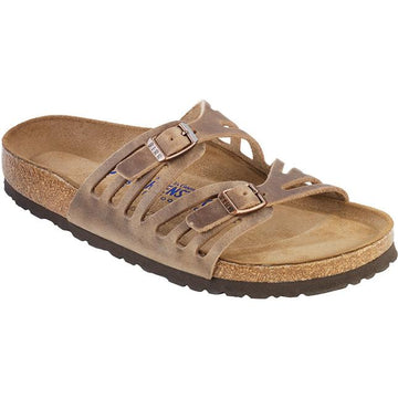 Women's Birkenstock Granada Soft Footbed Regular in Tobacco