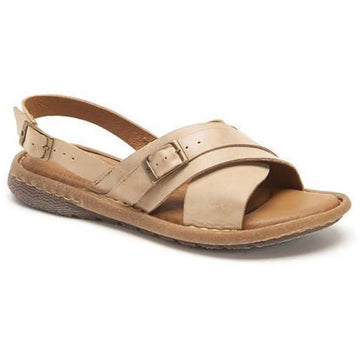 Quarter view Women's Born Footwear style name Marina in color Natural. Sku: BR0020802