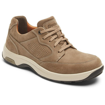 Quarter view Men's Dunham Footwear style name 8000 Blucher Ltd in color Breen Nubuck. Sku: CI4305