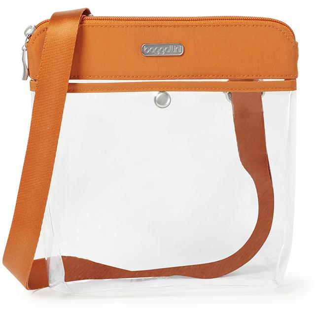 Women's Baggallini Clear Pocket Crossbody in Orange sku: CPO359-B0929