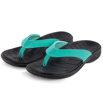 Womens Sole Catalina Flip In Teal