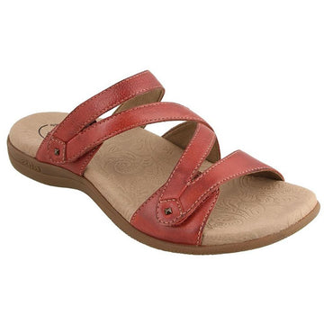 Quarter view Women's Taos Footwear style name Double U in color Red. Sku: DBU-13930RED