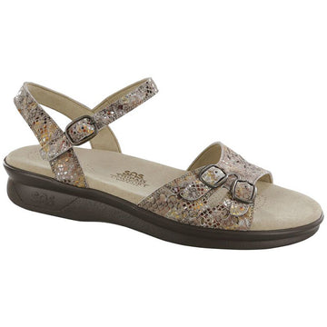Womens Sas Duo In Multi Snake Taupe
