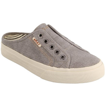Quarter view Women's Taos Footwear style name Ez Soul in color Grey Wash. Sku: ESL-13666GYWC