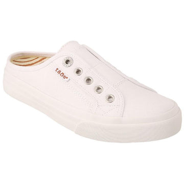 Quarter view Women's Taos Footwear style name Ez Soul in color White Canvas. Sku: ESL-13666WHTC