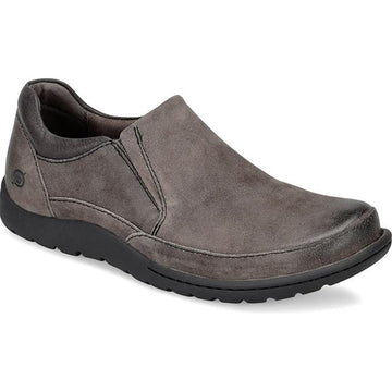 Mens Born Nigel Slip On In Grey Distressed