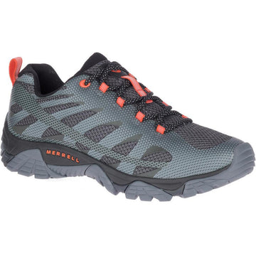 Quarter view Men's Merrell Footwear style name Moab Edge 2 in color Monument. Sku: J06113