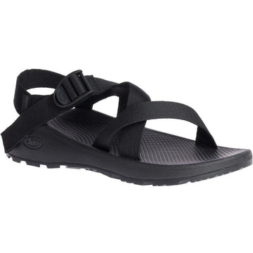 Quarter view Men's Chaco Footwear style name Z/Cloud in color Solid Black. Sku: J106763