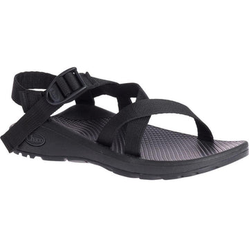 Quarter view Women's Chaco Footwear style name Z/Cloud in color Solid Black. Sku: J107366