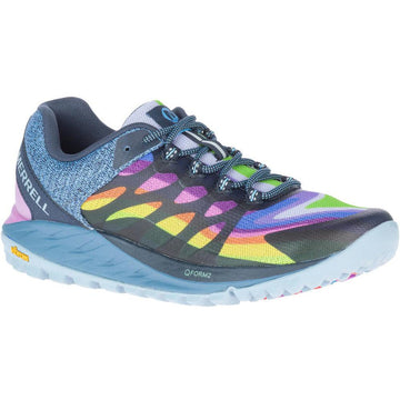 Quarter view Women's Merrell Footwear style name Antora 2 in color Rainbow. Sku: J135430