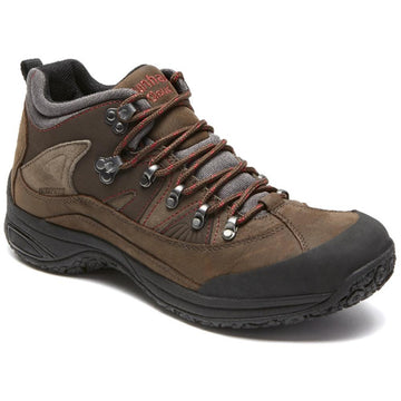 Quarter view Men's Dunham Footwear style name Ludlow Cloud in color Brown. Sku: MCR6630B
