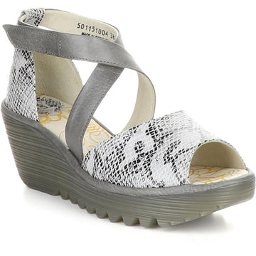 Women's Fly London Yosi in White Snake sku: P501151-004