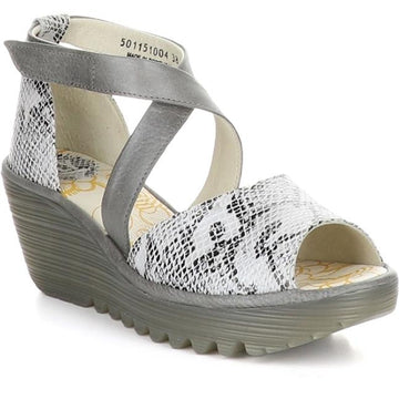 Women's Fly London Yosi Wide in White Snake sku: P501198-004