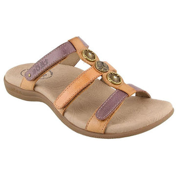 Quarter view Women's Taos Footwear style name Prize 4 in color Mauve Multi. Sku: PZ4-14021MAVM