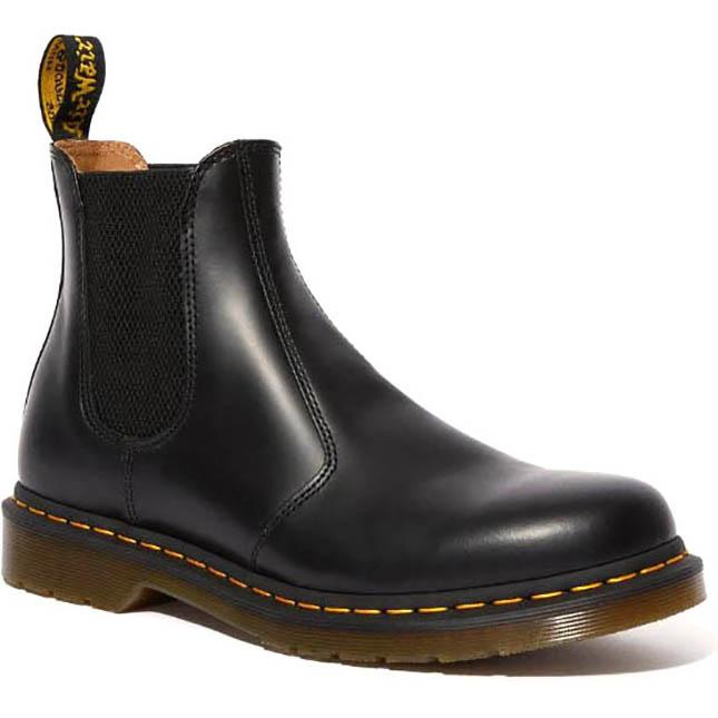 Men's Dr Marten 2976 Yellow Stitch Smooth in Black sku: R22227001